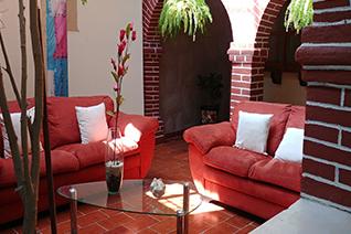 Vista interna del hotel Casa Maria Angelina