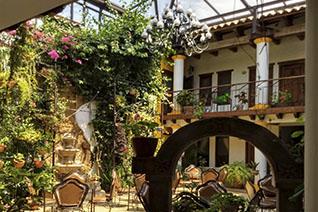Jardín del hotel Grand María