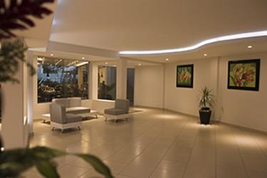 Vista interna del lobby