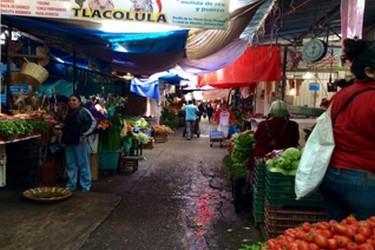 Vista interna del mercado de Tlacolula