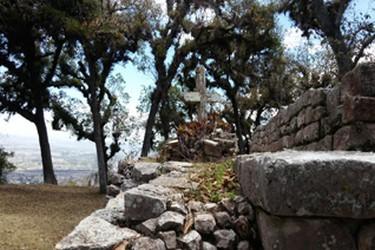 Vista de piramides el Lagartero