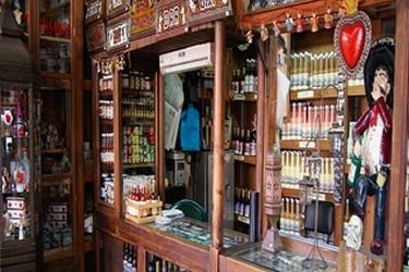 Vista interna de una tienda en el pueblo magico