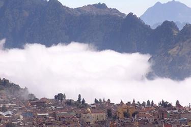 Vista panoramica del pueblo magico Zacatlan