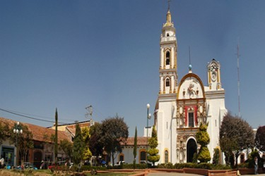 Vista de la catedral de Chignahuapan