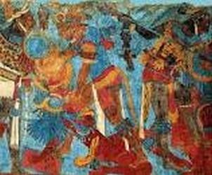 Pintural mural prehispanica de Cacaxtla
