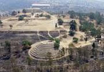 Vista panoramica de la zona arqueologica de Cacaxtla