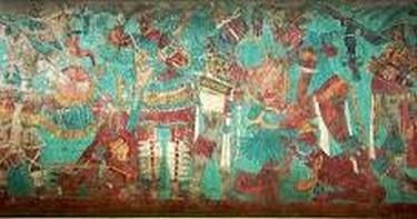 Murales pintados en el Palacio de Gobierno