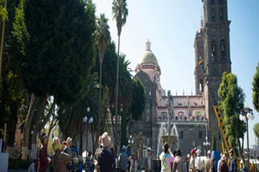 Plaza central en de Puebla