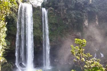 Vista aérea de la cascada de Misol Ha