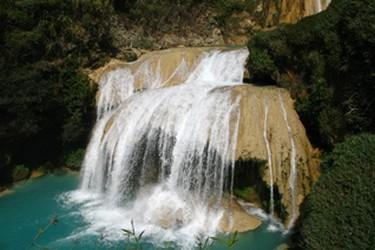 Vista de la cascada Ala de Angel