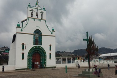 View of the Church in the community of San Juan Chamula