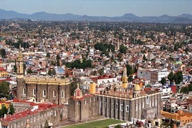 Vista panorámica de la ciudad de San Pedro Cholula