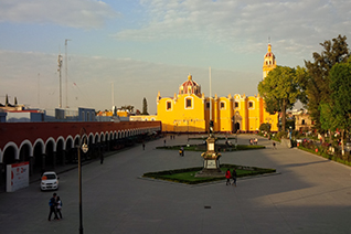 Vista del Zocalo de San Pedro Cholula