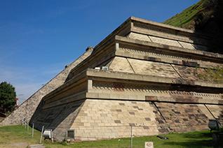 Zona arqueológica de Cholula, un sitio prehipánico de Mesoamérica