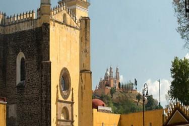 Vue de léglise de San Pedro Cholula