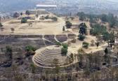 Vista panorámica de la zona arqueologica de Cacaxtla