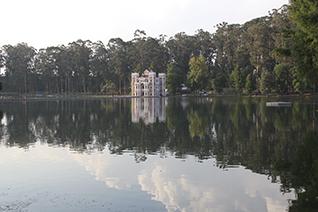 Vista del lago  de la Ex hacienda de Chautla