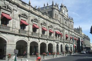 Vista del palacio de gobierno de Puebla