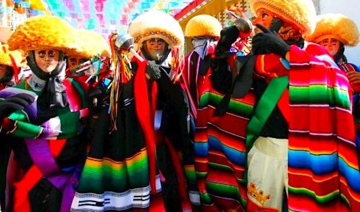 Los tradicionales parachicos  de Chiapa de Corzo
