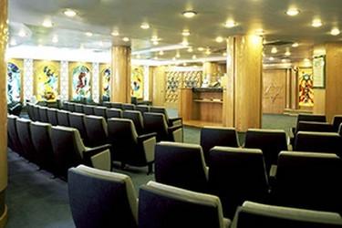 Vista interior de la sinagoga