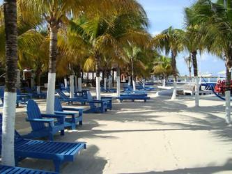 Vista del área de playa