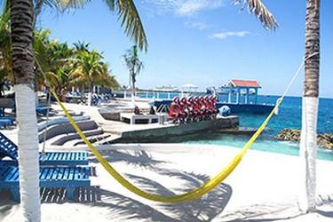 Vista externa de la playa del Hotel Cozumel & Resort