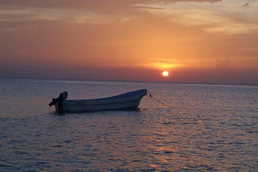 Sunset view in Cozumel