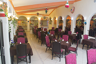 Internal view of Los Arcos restaurant