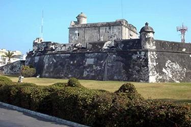 Vista edificio Baluarte de Santiago, en Veracruz
