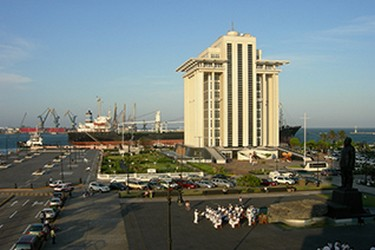 Vista panorámica del Malecón de Veracruz