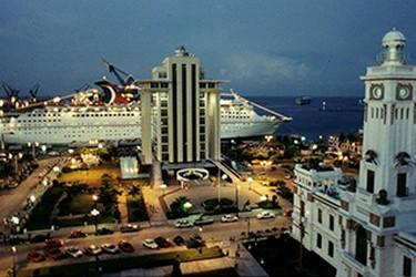 Vista panorámica del muelle de Veracruz