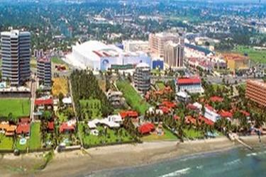 Vista aérea de la zona hotelera de Boca del Río