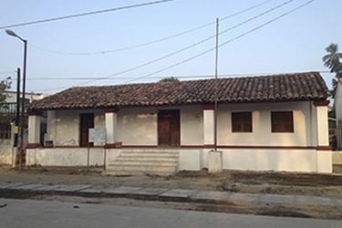Vista externa de Casa de Calbido primer ayuntamiento en la Nueva España