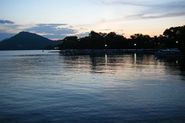 Vista panorámica de la laguna de Catemaco, Veracruz