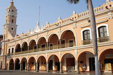 Vista panorámica del Palacio Municipal de Veracruz
