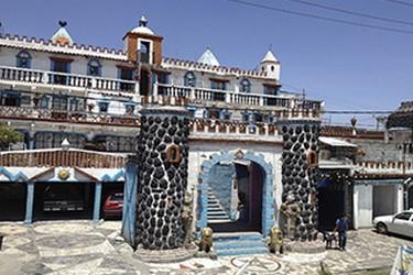 Castillo Azul ubicado en Cholula, Puebla