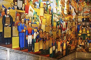 Mural en el palacio de gobierno de Tlaxcala