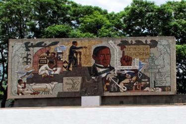 Mosaïque de Benito Juarez à Oaxaca