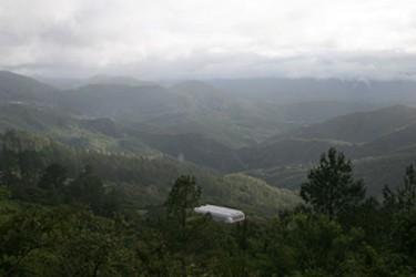 Vista panorâmica das montanhas no norte da Serra de Oaxaca