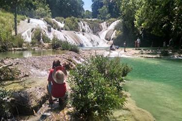Albercas naturales en cascadas de Roberto Barrios