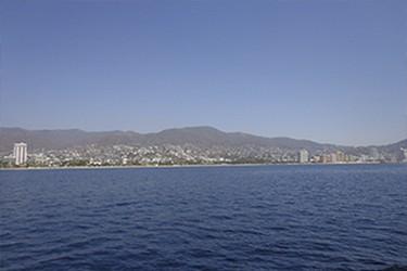 Vista de la playa desde el mar