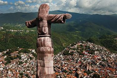 Vista de cristo de Taxco