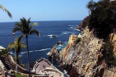 Vista de la Quebrada en Acapulco