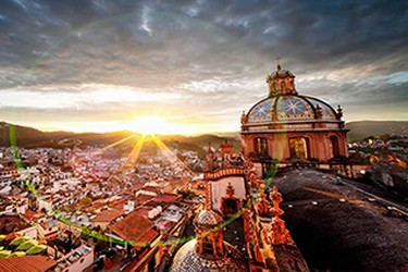 Taxco vista desde las alturas