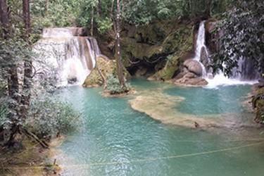 Ideal para nadar en las ricas aguas de la cascada