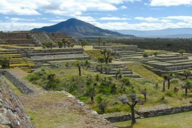 Vue panoramique de la zone archéologique de Puebla