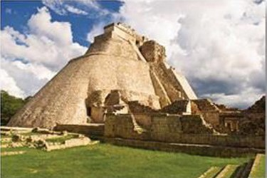 Pyramid of Adivino in the archeological zone of Uxmal
