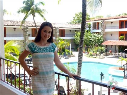 Vista interna de Plaza Palenque Hotel