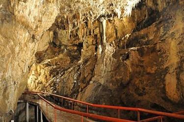 Vue de lintérieur des grottes de Rancho Nuevo
