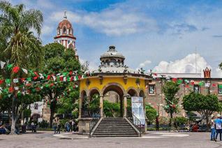 Parque central de Tlaquepaque, Jalisco